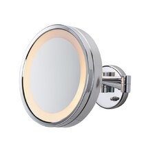 3x Chrome Halo Lighted Wall Mount Mirror