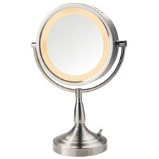Dual Sided 7x Halo Lighted Vanity Mirror
