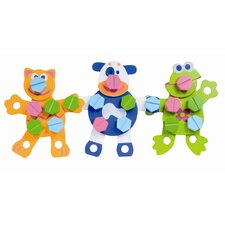 Wooden Animal 54 Piece Construction Set