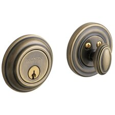 "4.5"" x 3.7"" Traditional Deadbolt with Single Cylinder"