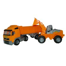 <strong>Wader Quality Toys</strong> Volvo Dump Truck and Front Loader