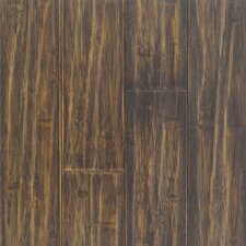 "Distressed Prefinished Horizontal 3-3/4"" Solid Bamboo Flooring in Black"