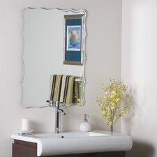 "<strong>Decor Wonderland</strong> 31.5"" H x 23.6"" W Frameless Ridge Wall Mirror"