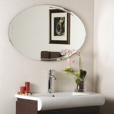 "<strong>Decor Wonderland</strong> 23.5"" H x 39.2"" W Frameless Marisol Wall Mirror"