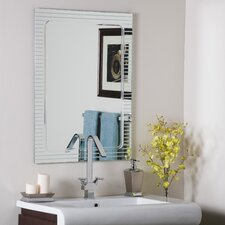 <strong>Decor Wonderland</strong> Frameless V-Groove Mirror
