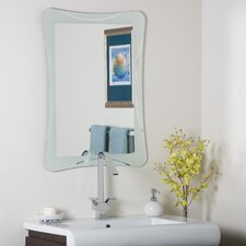 "31.5"" H x 23.5"" W Frameless Terassa Wall Mirror"
