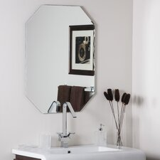 "<strong>Decor Wonderland</strong> 31.5"" H x 23.5"" W Frameless Olivia Wall Mirror"