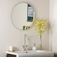 "<strong>Decor Wonderland</strong> 23.6"" H x 23.6"" W Frameless Beveled Karnia Mirror"