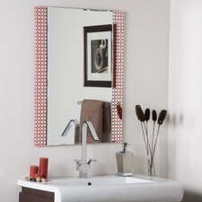 "<strong>Decor Wonderland</strong> 31.5"" H x 23.6"" W Cirque Frameless Wall Mirror"