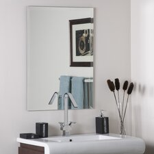 "<strong>Decor Wonderland</strong> 31.5"" H x 23.5"" W Frameless Leona Mirror"