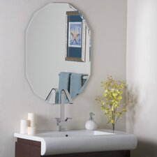 "31.5"" H x 23.6"" W Frameless Diamond Wall Mirror"