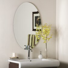 "31.5"" H x 26.6"" W Frameless Jaxon Wall Mirror"