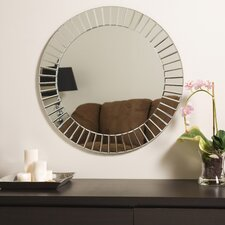 "<strong>Decor Wonderland</strong> 27.6"" H x 27.6"" W Fortune Modern Frameless Beveled Wall Mirror"