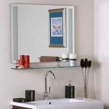 "23.6"" H x 31.5"" W Frameless Roxi Mirror with shelf"