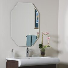 "<strong>Decor Wonderland</strong> 31.5"" H x 23.5"" W Eight-Sided Frameless Beveled Wall Mirror"