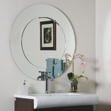 "<strong>Decor Wonderland</strong> 35"" H x 35"" W Oriana Modern Round Wall Mirror"