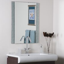 "<strong>Decor Wonderland</strong> 31.5"" H x 23.6"" W Dune Frameless Wall Mirror"