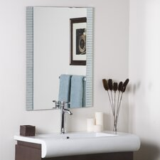 "<strong>Decor Wonderland</strong> 31.5"" H x 23.6"" W Sam Frameless Wall Mirror"