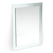 "31.5"" H x 23.6"" Frameless Disco Wall Mirror"