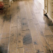 <strong>Virginia Vintage</strong> Random Width Engineered Red Oak Flooring in Powderhorn