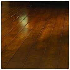 "Crossfire 5"" Handscraped Engineered Maple Flooring in Flickering Flames"
