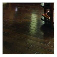 "Crossfire 5"" Handscraped Engineered Maple Flooring in Midnight Embers"