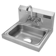 "17"" x 15"" Hand Wash Sink with Faucet"