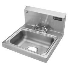 "17"" x 17"" Hand Wash Sink with Faucet"