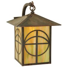 Seneca Circle Cross Curved Arm Wall Sconce