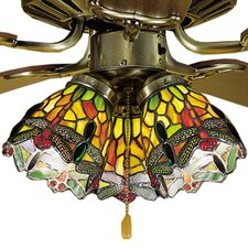 "4"" Tiffany Bell Ceiling Fan Fitter Shade"