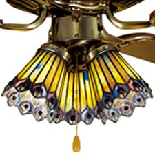 "4"" Tiffany Bell Ceiling Fan Fitter Shade"