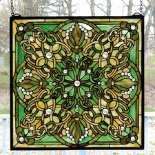 Victorian Lace Knotwork Stained Glass Window