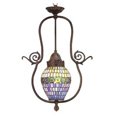 <strong>Meyda Tiffany</strong> Victorian Tiffany Nouveau 1 Light Turtleback Foyer Pendant