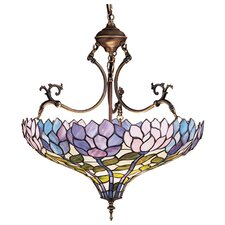 <strong>Meyda Tiffany</strong> Tiffany Wisteria 3 Light Inverted Pendant