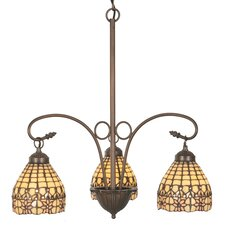 Victorian Flourish 3 Light Chandelier