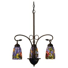 Tiffany Rosebush 3 Light Chandelier
