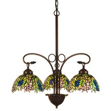 <strong>Meyda Tiffany</strong> Tiffany Honey Locust 3 Light Chandelier
