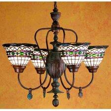Tiffany Roman 4 Light Chandelier