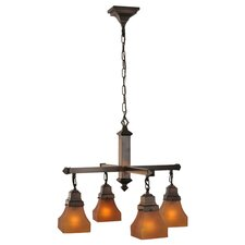 Bungalow Frosted 4 Light Chandelier