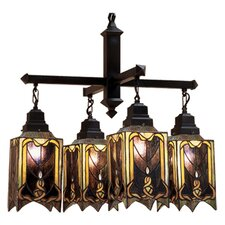 <strong>Meyda Tiffany</strong> Cottage Mission 4 Light Chandelier