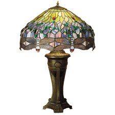 <strong>Meyda Tiffany</strong> Tiffany Hanging Head Dragonfly Table Lamp