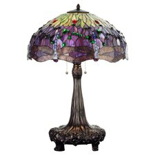 "Tiffany 31"" H Hanginghead Dragonfly Table Lamp"