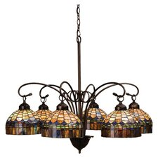 6 Light Tiffany Candice Chandelier