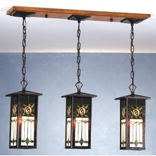 Pasadena Rose 3 Light Lantern Island Pendant