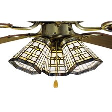 "4"" Arrowhead Glass Bell Ceiling Fan Fitter Shade"