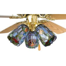 <strong>Meyda Tiffany</strong> Tiffany Rosebush Fan Light Shade