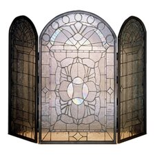 <strong>Meyda Tiffany</strong> Beveled Glass 3 Panel Fireplace Screen