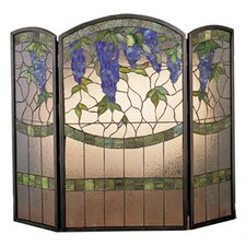 <strong>Meyda Tiffany</strong> Wisteria 3 Panel Fireplace Screen