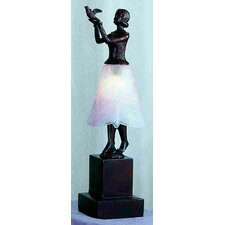 "Silhouette Lady with Dove 16"" H Table Lamp"