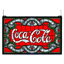 Victorian Coca-Cola Stained Glass Window